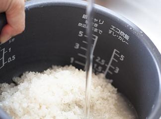 お米を研ぐ・炊くとき